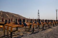 Βαλβίδες πετρελαίου και φυσικού αερίου Στοκ Εικόνες