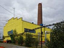 βαλβίδες σωλήνων συστημάτων θέρμανσης Στοκ Φωτογραφία