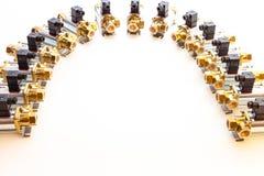 Βαλβίδες υψηλών ηλεκτρονικές μετάλλων Στοκ φωτογραφία με δικαίωμα ελεύθερης χρήσης