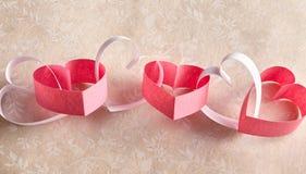 Βαλεντίνοι ή έμβλημα καρδιών επετείου Στοκ Φωτογραφία