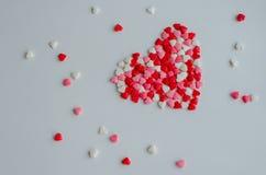 βαλεντίνοι καρδιών ημέρας ανασκόπησης Στοκ Εικόνες