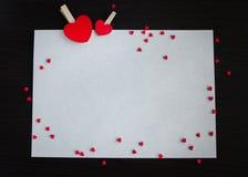 βαλεντίνοι καρδιών ημέρας ανασκόπησης Στοκ εικόνα με δικαίωμα ελεύθερης χρήσης