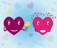 βαλεντίνος αγάπης s απεικόνισης καρδιών ημέρας Στοκ φωτογραφίες με δικαίωμα ελεύθερης χρήσης