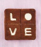 βαλεντίνος αγάπης s ST ημέρας έννοιας κέικ Κέικ μπανανών σοκολάτας Στοκ Εικόνα