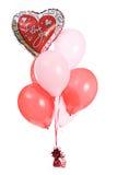 Βαλεντίνος: Ανθοδέσμη μπαλονιών αγάπης Στοκ Εικόνες