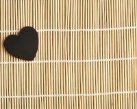 βαλεντίνος ημέρας s Μια μαύρη καρδιά Στοκ Φωτογραφία
