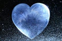 Βαλεντίνος καρδιών πάγου Στοκ Εικόνες