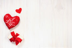 βαλεντίνος καρδιών s ανασκόπησης Στοκ Φωτογραφία