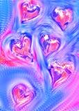 βαλεντίνος καρδιών s Στοκ εικόνα με δικαίωμα ελεύθερης χρήσης