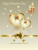 βαλεντίνος μορφής αγάπης καρδιών καρτών Στοκ Εικόνες