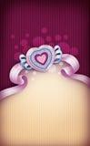 βαλεντίνος μορφής αγάπης καρδιών καρτών Στοκ φωτογραφία με δικαίωμα ελεύθερης χρήσης