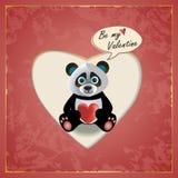 Βαλεντίνος της Panda Στοκ εικόνες με δικαίωμα ελεύθερης χρήσης