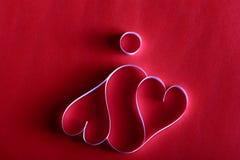 Βαλεντίνος του ST υποβάθρου καρδιών εγγράφου Στοκ εικόνα με δικαίωμα ελεύθερης χρήσης