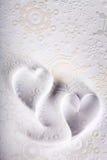 Βαλεντίνος του ST υποβάθρου καρδιών εγγράφου Στοκ φωτογραφία με δικαίωμα ελεύθερης χρήσης