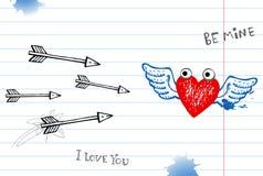 Βαλεντίνος doodles Στοκ Εικόνες