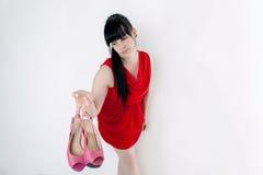βαλμένα τακούνια υψηλά παπούτσια στοκ εικόνες με δικαίωμα ελεύθερης χρήσης