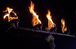 Βαλμένος φωτιά σίδηρος Στοκ φωτογραφίες με δικαίωμα ελεύθερης χρήσης