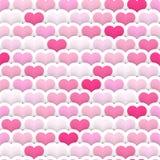 Βαλμένο σε στρώσεις άνευ ραφής υπόβαθρο καρδιών Στοκ εικόνες με δικαίωμα ελεύθερης χρήσης