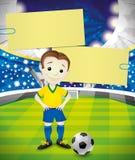 βαλμένο σε στρώσεις αρχείο διάνυσμα εμβλημάτων eps10 ποδοσφαιριστής διανυσματική απεικόνιση