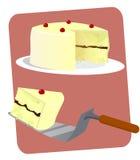 Βαλμένο σε στρώσεις βανίλια κέικ Στοκ Εικόνες