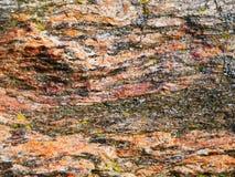 Βαλμένο σε στρώσεις ζωηρόχρωμο σχέδιο βράχου - γραφικό υπόβαθρο Στοκ Εικόνα