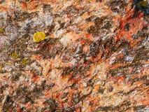 Βαλμένο σε στρώσεις ζωηρόχρωμο σχέδιο βράχου - πλευρικά βουνά Panonia Στοκ Εικόνα