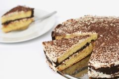 Βαλμένο σε στρώσεις κέικ λιβρών Στοκ Εικόνες