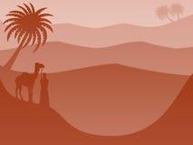 Βαλμένο σε στρώσεις υπόβαθρο τοπίων: Κόκκινο ερήμων διανυσματική απεικόνιση