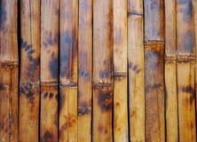 Βαλμένο φωτιά υπόβαθρο τοίχων μπαμπού Στοκ Εικόνα