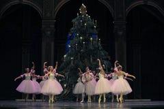 Βαλς snowflakes- το βασίλειο καραμελών τομέων δεύτερων πράξεων δεύτερο - ο καρυοθραύστης μπαλέτου Στοκ Φωτογραφία
