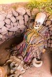 Βαλσαμωμένα μούμια και κρανίο στο Περού Στοκ εικόνα με δικαίωμα ελεύθερης χρήσης