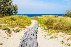βαλτικός οβελός θάλασσας ακτών curonian Στοκ Φωτογραφίες