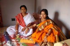 βεγγαλικός γάμος τελετουργικών της Ινδίας Στοκ Εικόνες