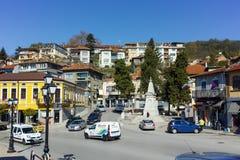 ΒΕΛΊΚΟ ΤΎΡΝΟΒΟ, ΒΟΥΛΓΑΡΙΑ - 11 ΑΠΡΙΛΊΟΥ 2017: Σπίτια στην παλαιά κωμόπολη της πόλης του Βελίκο Τύρνοβο Στοκ Φωτογραφίες
