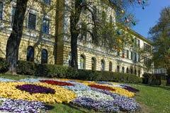 ΒΕΛΊΚΟ ΤΎΡΝΟΒΟ, ΒΟΥΛΓΑΡΙΑ - 11 ΑΠΡΙΛΊΟΥ 2017: Σπίτια στην παλαιά κωμόπολη της πόλης του Βελίκο Τύρνοβο Στοκ φωτογραφία με δικαίωμα ελεύθερης χρήσης