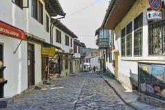 ΒΕΛΊΚΟ ΤΎΡΝΟΒΟ, ΒΟΥΛΓΑΡΙΑ - 11 ΑΠΡΙΛΊΟΥ 2017: Σπίτια στην παλαιά κωμόπολη της πόλης του Βελίκο Τύρνοβο Στοκ φωτογραφίες με δικαίωμα ελεύθερης χρήσης