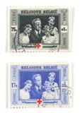 βελγικά γραμματόσημα Στοκ Φωτογραφία