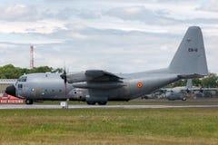 Βελγικά Lockheed γ-130H Hercules Πολεμικής Αεροπορίας τμημάτων αέρα βελγικά στρατιωτικά αεροσκάφη CH-11 φορτίου Στοκ φωτογραφίες με δικαίωμα ελεύθερης χρήσης