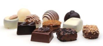 βελγικές σοκολάτες Στοκ Εικόνες