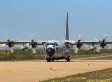 Βελγική Πολεμική Αεροπορία γ-130 αεροπλάνο μεταφοράς εμπορευμάτων Hercules Στοκ φωτογραφία με δικαίωμα ελεύθερης χρήσης
