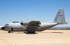 Βελγικό μεταφορικό αεροπλάνο Hercules Πολεμικής Αεροπορίας γ-130H Στοκ εικόνα με δικαίωμα ελεύθερης χρήσης