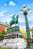ΒΕΛΙΓΡΑΔΙ, ΣΕΡΒΙΑ - 10 ΜΑΐΟΥ: Μνημείο Mihailo πριγκήπων στις 10 Μαΐου 2016 σε Βελιγράδι Βρίσκεται στο κύριο τετράγωνο Δημοκρατίας Στοκ Εικόνες
