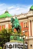 ΒΕΛΙΓΡΑΔΙ, ΣΕΡΒΙΑ - 10 ΜΑΐΟΥ: Μνημείο Mihailo πριγκήπων στις 10 Μαΐου 2016 σε Βελιγράδι Βρίσκεται στο κύριο τετράγωνο Δημοκρατίας Στοκ Φωτογραφία