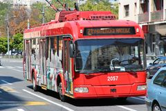 Trolleybus Βελιγραδι'ου στοκ φωτογραφία