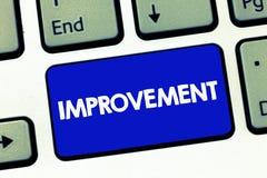 Βελτίωση κειμένων γραφής Η έννοια έννοιας καθιστά τα πράγματα καλύτερα να αυξηθούν την ειδική πρόοδο καινοτομίας αλλαγών στοκ φωτογραφία με δικαίωμα ελεύθερης χρήσης