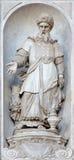 Βενετία - άγαλμα του προφήτη Aron (1738 - 1755) από την εκκλησία Σάντα Μαρία del Ροσάριο (dei Gesuati Chiesa) Στοκ εικόνες με δικαίωμα ελεύθερης χρήσης