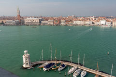 Βενετία από το SAN Giorgio Maggiore Στοκ εικόνες με δικαίωμα ελεύθερης χρήσης