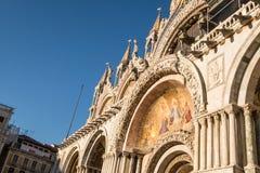 Βενετία, λεπτομέρεια μωσαϊκών στη βασιλική του σημαδιού του ST Στοκ Φωτογραφία