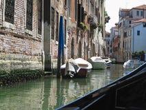 20 06 2017, Βενετία, Ιταλία: Άποψη από τη γόνδολα στο ιστορικό buildin Στοκ Φωτογραφίες