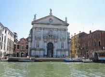 20 06 2017, Βενετία, Ιταλία: Άποψη των ιστορικών κτηρίων και των καναλιών Στοκ Εικόνα